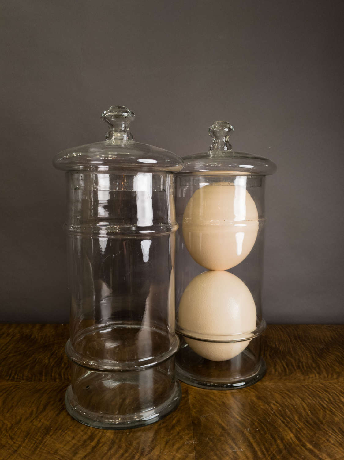 Late 19th Century Large French Glass Sweet jars