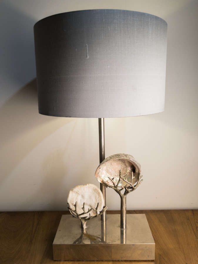 Circa 1930 A Nickel Plated Table Lamp