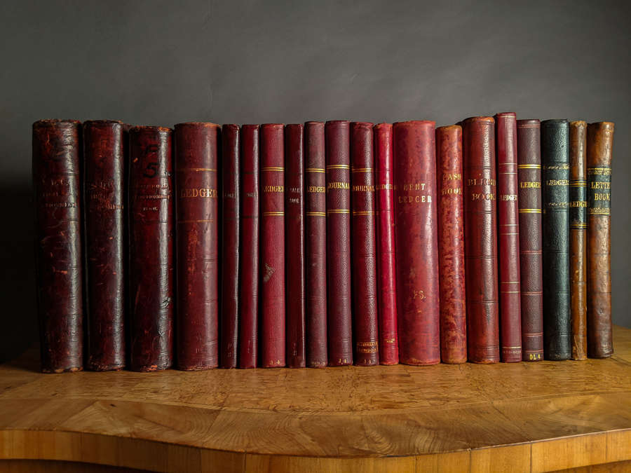 Circa 1890 Red Leather Ledgers