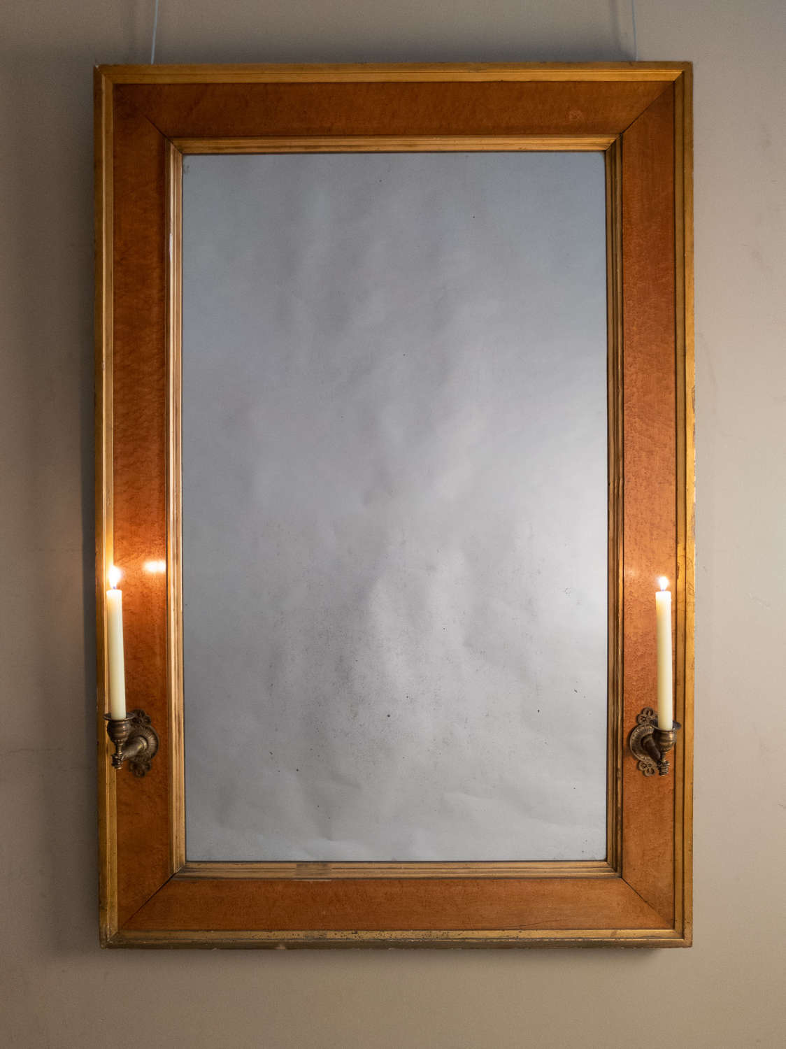An Early 19th Century Birds Eye Maple Mirror