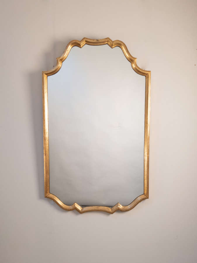 A Mid Century French Gilt Mirror