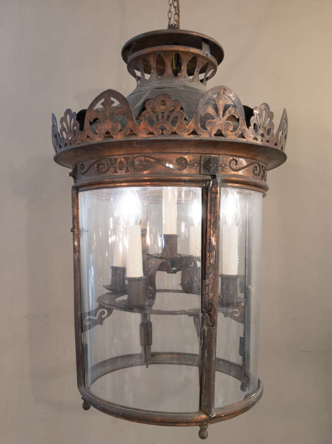 C1900 A Large French Copper Lantern
