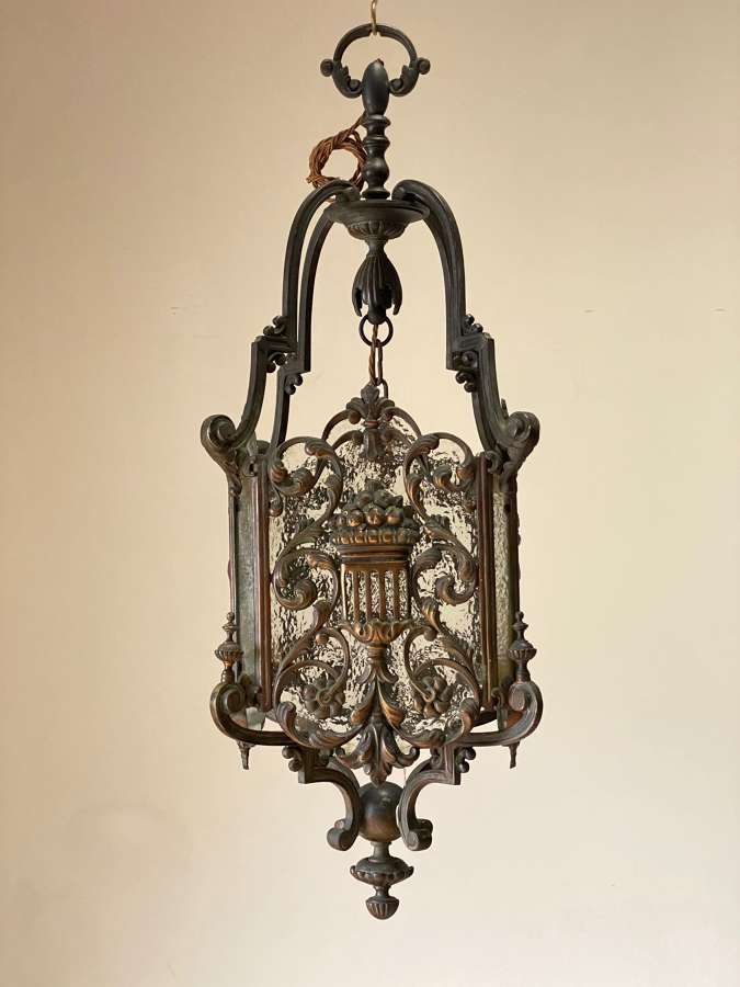 Circa 1910 An Elegant  French Bronze Lantern