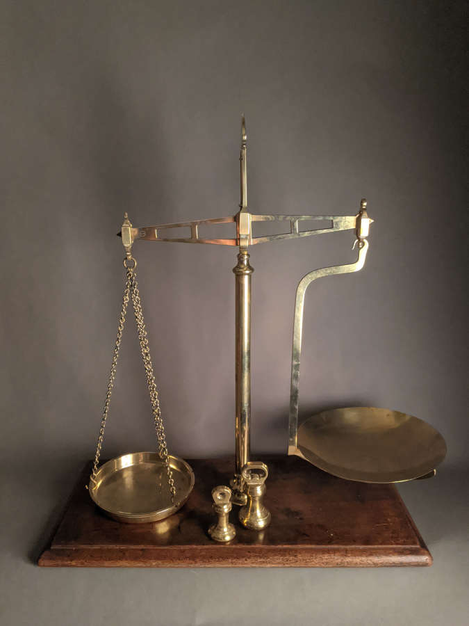 C1870 A Set Of Apothecary Scales