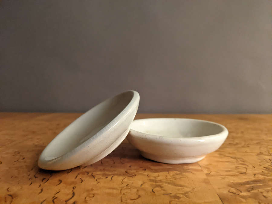 C1890 Creamware / Ironstone Butter Pats