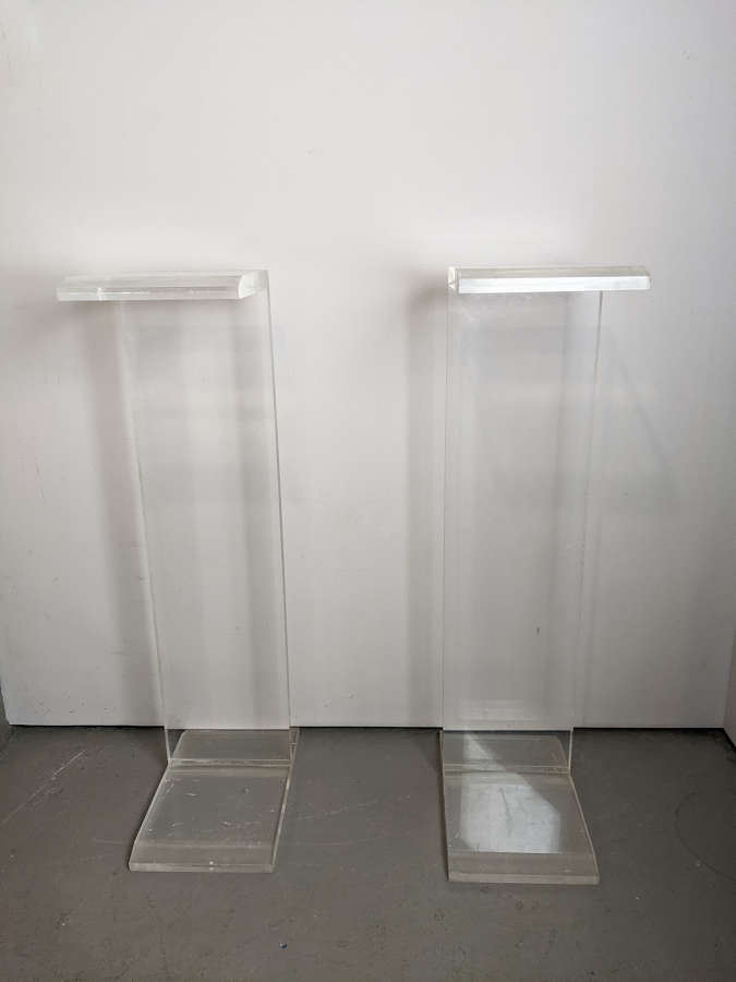 C1960 A Pair of Perspex Plinths