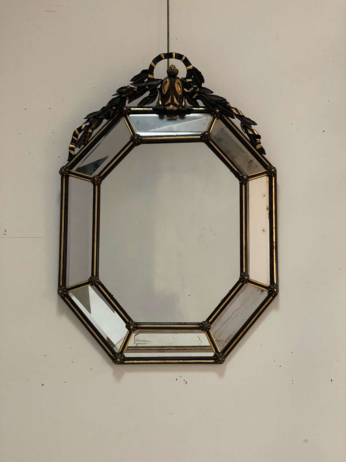 An Elegant 19th Century Octagonal Cushion Mirror