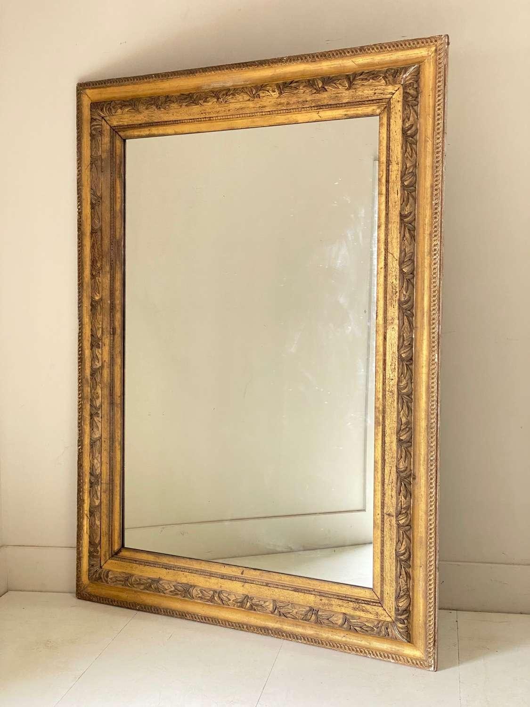 C1870 A Large Gilt Mercury Silvered Mirror