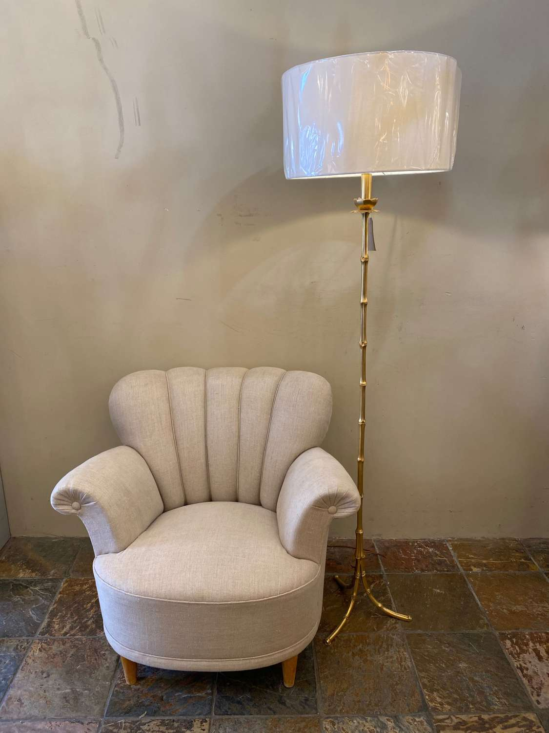 A Gilt Bronze Floor Lamp Attrib Maison Bagues