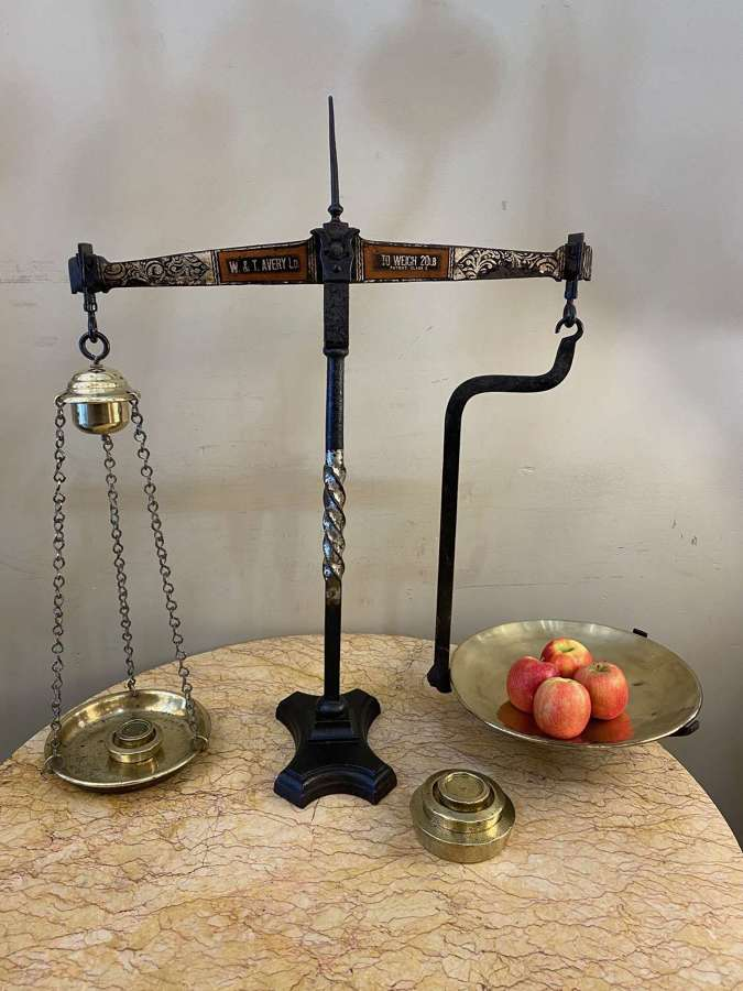 C1880 A Large Iron Set of Scales W & T Avery Ltd