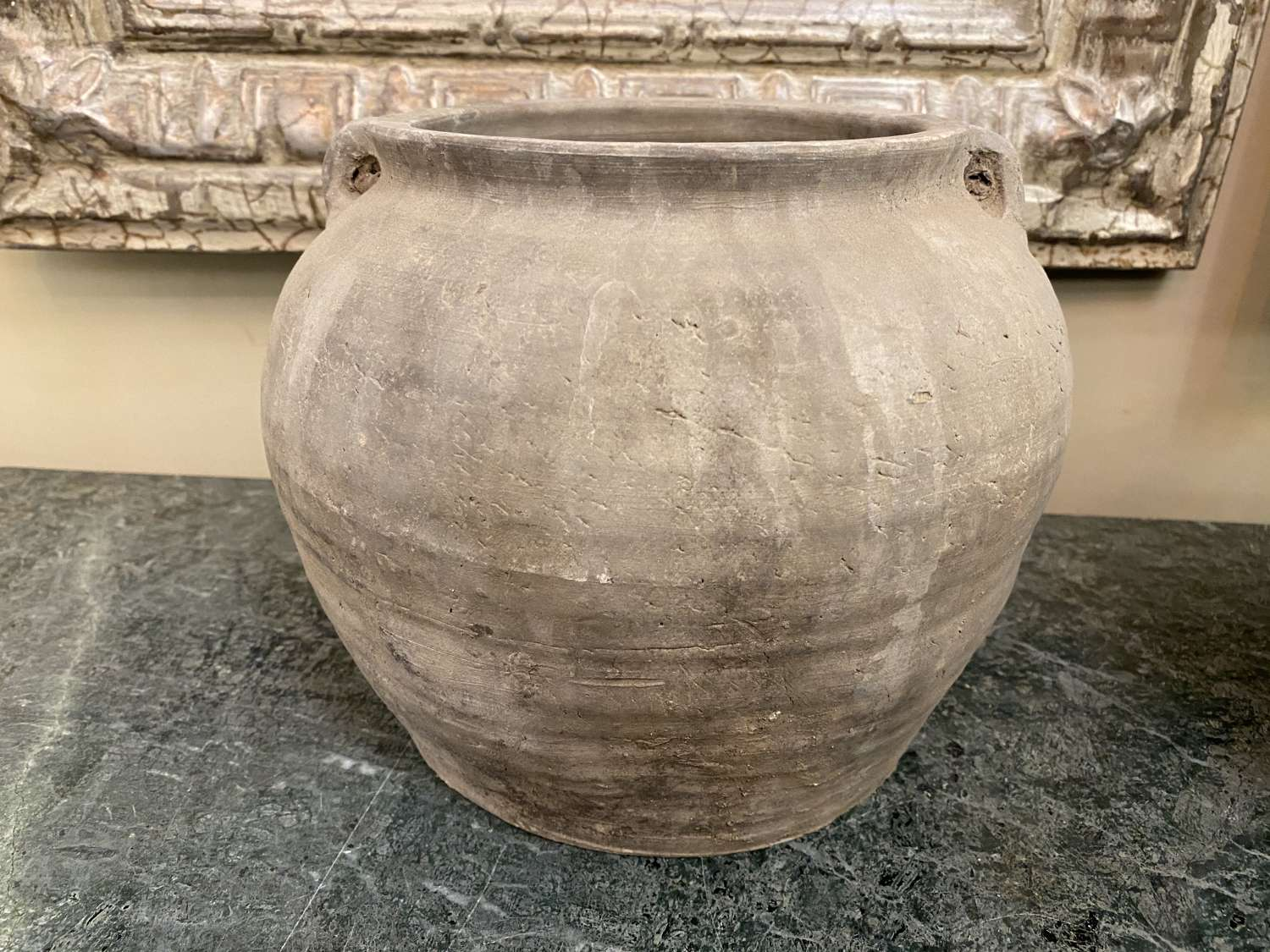 C1860 A Chinese Grey Clay Pot