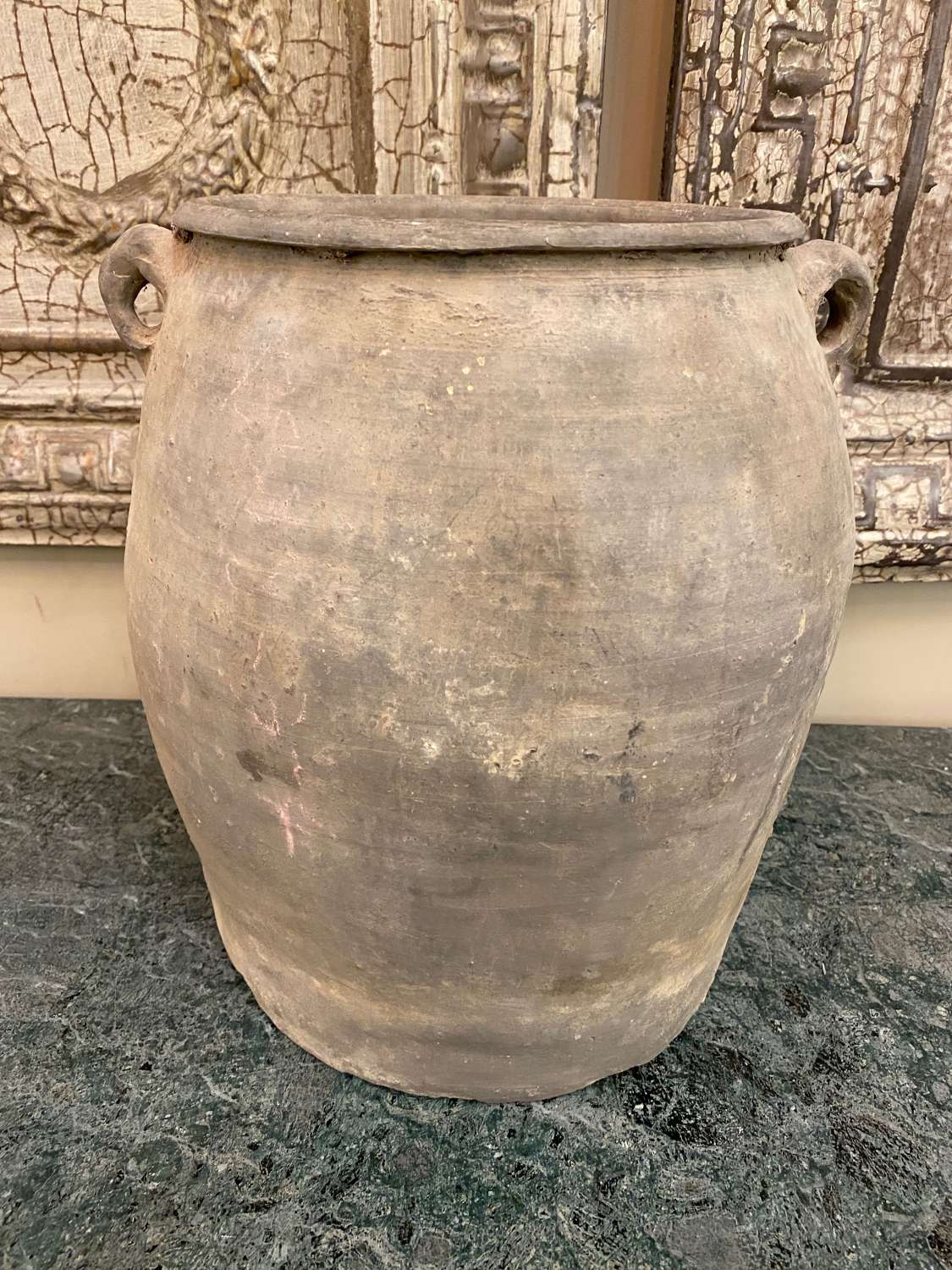 C1860 A Large Chinese Grey Clay Pot.
