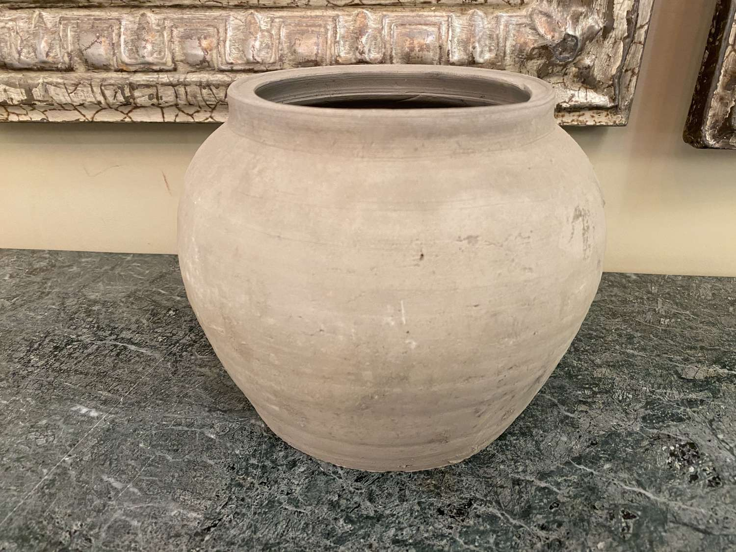 C1860 A Chinese Grey Clay Pot.