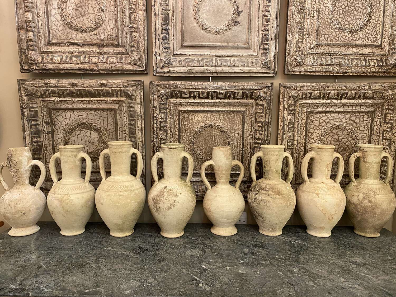 C1950 Terracotta Amphora Pots - Sold Separately