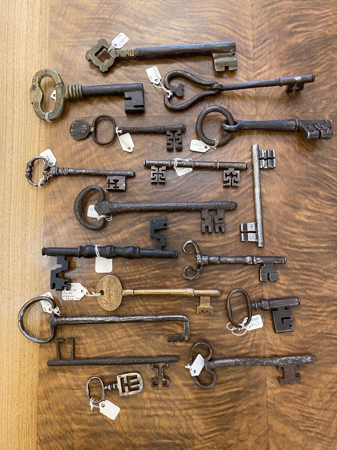 A Collection of 17 Keys -15th - 19th Century