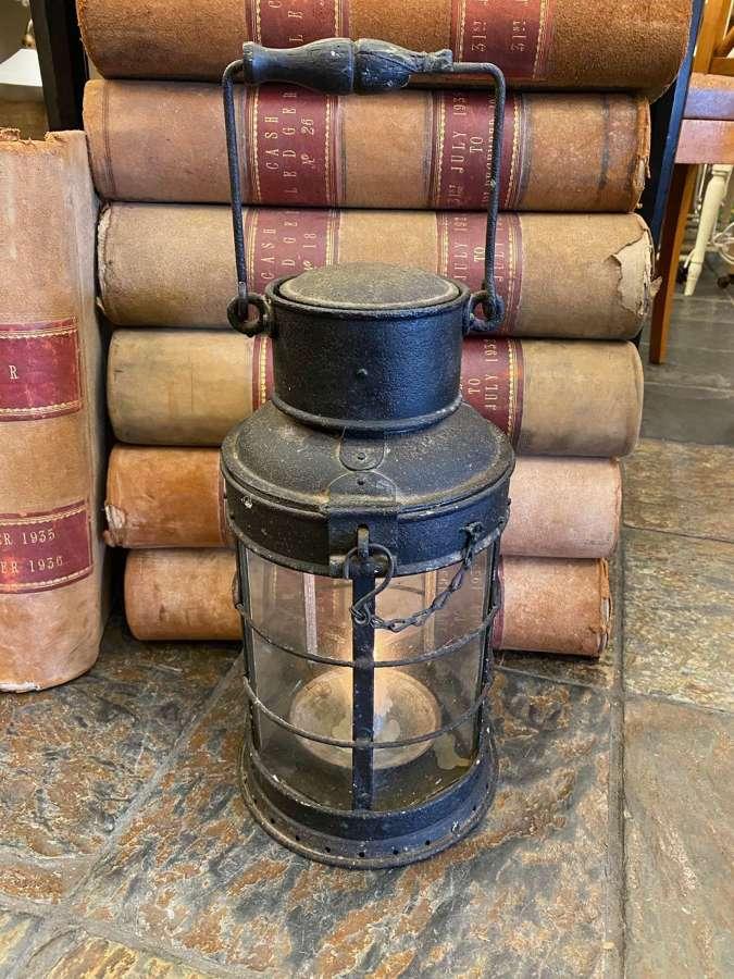 C1900 A Large Iron Candle Lantern