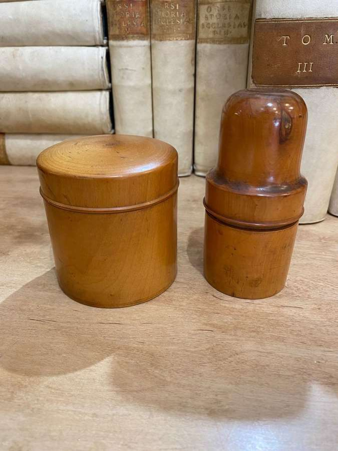 C1880 2 Fruitwood Boxes - Sold Separately