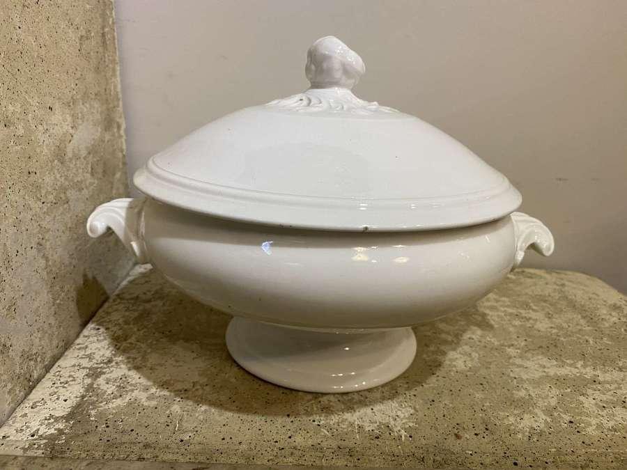 C1890 Flemish Creamware Ironstone Tureen
