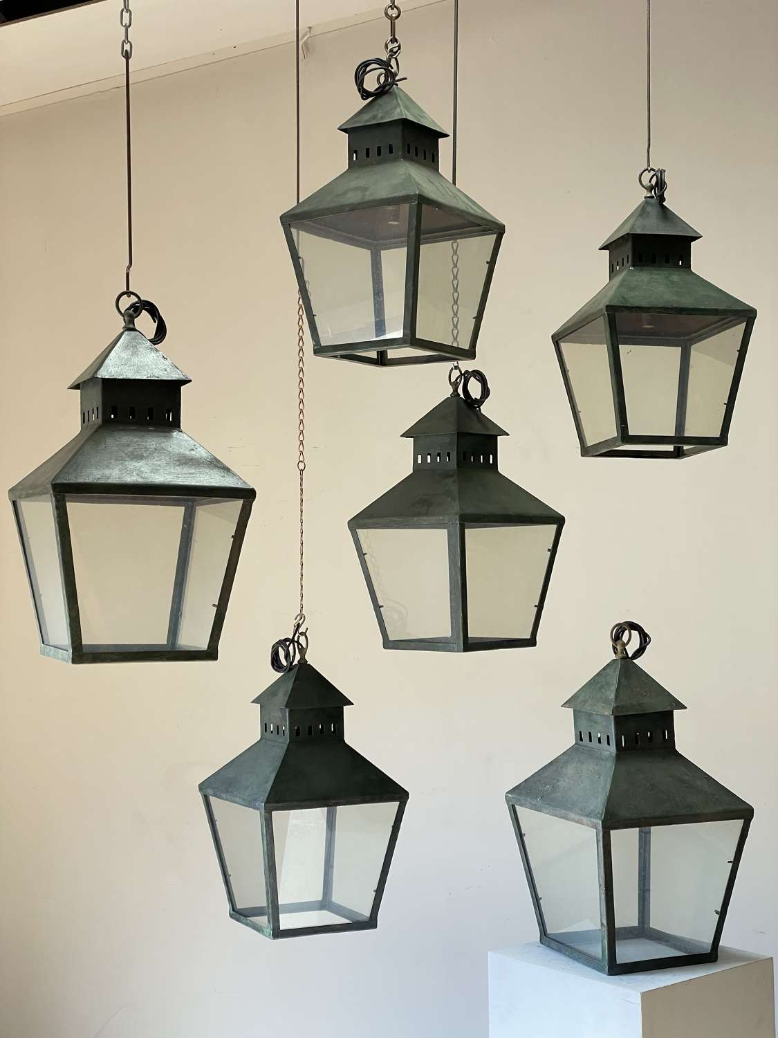 C1900 Painted Tole French Lanterns - Sold Separately