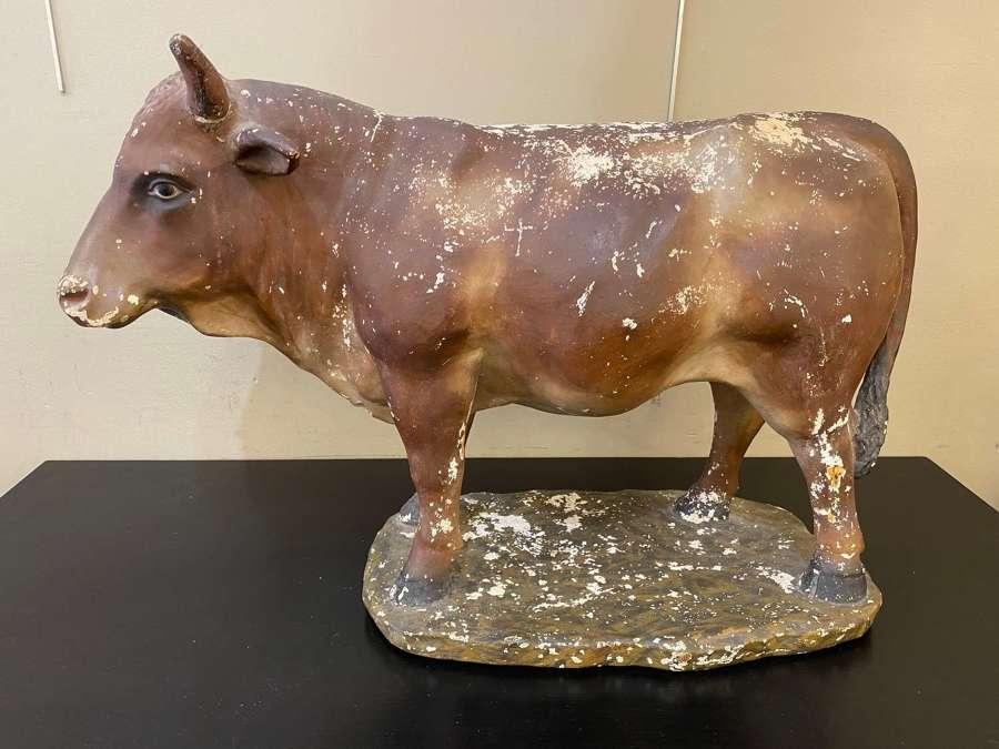 C1930 A Terracotta Bull from a Butchers Shop Window