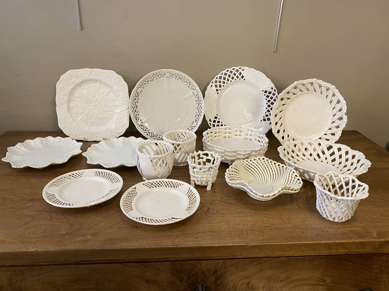 C1920-50 A Collection Of Basket Pottery