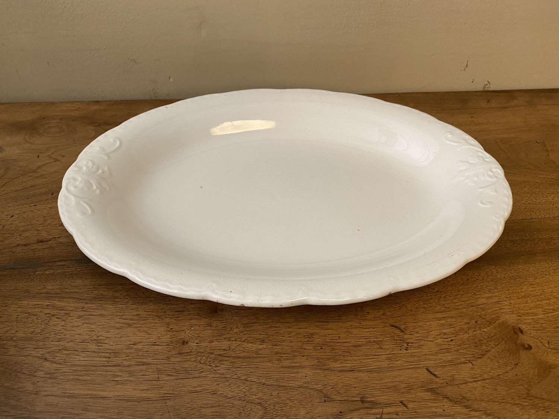 C1910 A Creamware Ironstone Serving Dish