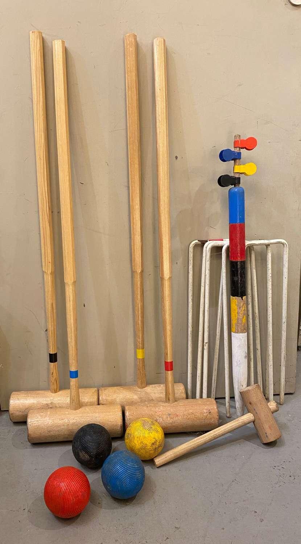 C1950s Croquet Set - 4 Players