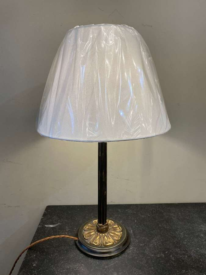 C1890 A French Bronze Flower Table Lamp